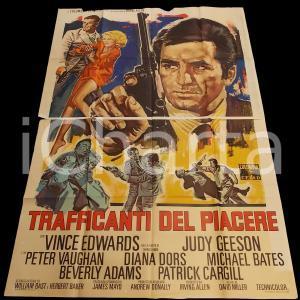 1968 TRAFFICANTI DEL PIACERE Hammerhead - Vince EDWARDS *Manifesto 140x200 cm
