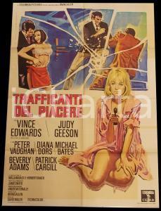 1968 TRAFFICANTI DEL PIACERE Hammerhead - Vince EDWARDS *Manifesto 100x140 cm