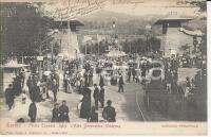 1902 TORINO Ingresso della prima Esposizione d'arte decorativa *Cartolina FP VG