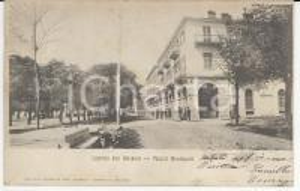 1905 LUSERNA SAN GIOVANNI (TO) Palazzi Municipali - Cartolina ANIMATA FP VG