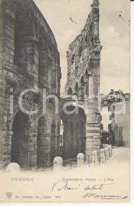 1908 ARENA DI VERONA Scorcio con una porzione dell'Ala *Cartolina FP VG