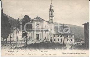 1903 CASELLA (GE) Veduta della Chiesa di Santo Stefano *Cartolina FP VG