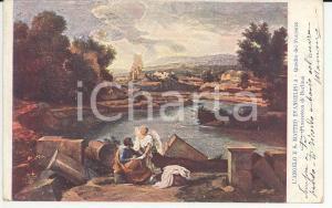 1903 ARTE Nicolas POUSSIN L'angelo e San Matteo evangelista *Cartolina FP VG