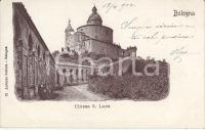 1905 BOLOGNA Chiesa di San Luca - Panorama *Cartolina FP NV