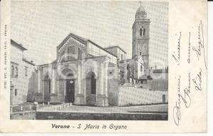 1905 ca VERONA Chiesa di Santa Maria in Organo - Panorama *Cartolina FP VG