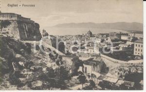 1915 ca CAGLIARI Panorama della città dall'alto *Cartolina postale FP NV