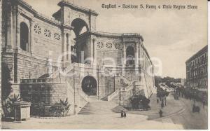 1915 ca CAGLIARI Bastione S. Rémy e viale Regina Elena *Cartolina ANIMATA FP NV