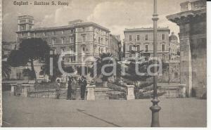 1915 ca CAGLIARI Ingresso del bastione S. Rémy *Cartolina postale ANIMATA FP NV