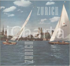 1960 ca ZURICH /ZURIGO - Pieghevole ILLUSTRATO con mappa *TURISMO VINTAGE