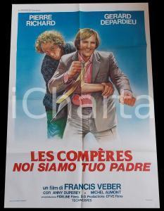 1983 LES COMPERES Noi siamo tuo padre - Gerard DEPARDIEU *Manifesto 100x140 cm
