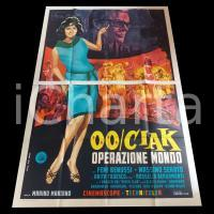 1966 00/CIAK OPERAZIONE MONDO Femi BENUSSI - PIPER CLUB *Manifesto 140x200