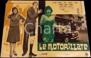 1963 LE MOTORIZZATE Totò Raimondo VIANELLO Sandra MONDAINI Fotobusta DANNEGGIATA