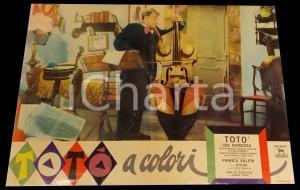 1952 TOTO' A COLORI Totò suona contrabbasso *Fotobusta DANNEGGIATA 67x50 cm