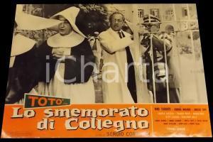 1962 LO SMEMORATO DI COLLEGNO Totò - Nino TARANTO *Fotobusta 67x50 cm