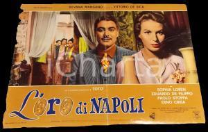 1954 L'ORO DI NAPOLI Sophia LOREN Silvana MANGANO *Fotobusta DANNEGGIATA