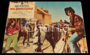 1969 QUINTO: NON AMMAZZARE Banditi attaccano la città Fotobusta WESTERN 67x50 cm