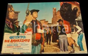 1969 QUINTO: NON AMMAZZARE La vendetta dello sceriffo Fotobusta WESTERN 67x50 cm