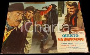 1969 QUINTO: NON AMMAZZARE Scazzottata nel saloon *Fotobusta WESTERN 67x50 cm