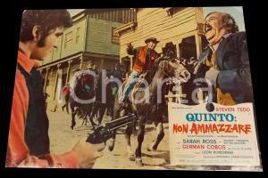 1969 QUINTO: NON AMMAZZARE Sceriffo insegue banditi *Fotobusta WESTERN 67x50 cm