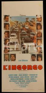 1979 L'INGORGO Luigi COMENCINI Alberto SORDI Ugo TOGNAZZI *Manifesto 32x70