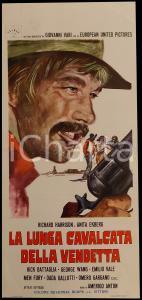 1972 LUNGA CAVALCATA DELLA VENDETTA Richard HARRIS Anita EKBERG *Manifesto 32x70