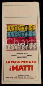 1982 LA SAI L'ULTIMA SUI MATTI? Annamaria RIZZOLI Bombolo *Manifesto 32x70 cm