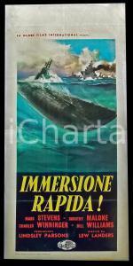 1959 IMMERSIONE RAPIDA Mark STEVENS Dorothy MALONE Lew LANDERS *Manifesto 32x70