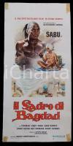 1975 IL LADRO DI BAGDAD - SABU Conrad VEIDT June DUPREZ *Manifesto 32x70 cm