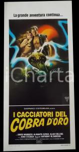 1982 I CACCIATORI DEL COBRA D'ORO Almanta SUSKA David WARBECK Manifesto 32x70 cm