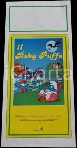 1986 IL BABY PUFFO Hanna-Barbera PEYO Smurfs *Manifesto 32x70 cm