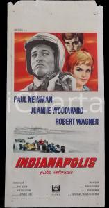 1969 INDIANAPOLIS Pista infernale - Paul NEWMAN Joanne WOODWARD *Manifesto 32x70