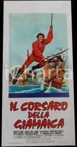 1976 IL CORSARO DELLA GIAMAICA Robert SHAW James Earl JONES *Manifesto 32x70 cm