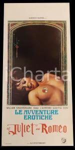 1969 LE AVVENTURE EROTICHE DI GIULIETTA E ROMEO *Manifesto EROTICO 32x70 cm