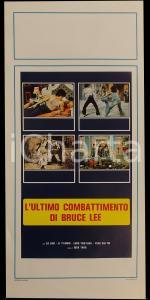 1982 L'ULTIMO COMBATTIMENTO DI BRUCE LEE Lo LIEH Li YI-MING *Manifesto 32x70 cm