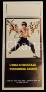 1977 L'URLO DI BRUCE LEE TERRORIZZA ANCORA Sonny CHIBA *Manifesto 32x70 cm