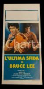 1982 L'ULTIMA SFIDA DI BRUCE LEE Roy CHIAO Jang Lee HWANG *Manifesto 32x70 cm