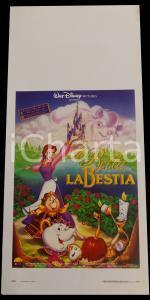 1991 LA BELLA E LA BESTIA - WALT DISNEY *Manifesto 32x70 cm