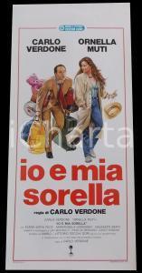 1987 IO E MIA SORELLA Carlo VERDONE Ornella MUTI  *Manifesto 32x70 cm