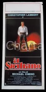 1987 IL SICILIANO Christopher LAMBERT Michael CIMINO *Manifesto 32x70 cm