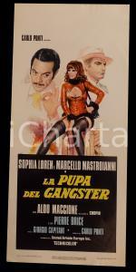 1975 LA PUPA DEL GANGSTER Sophia LOREN Marcello MASTROIANNI *Manifesto 32x70 cm