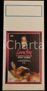 1979 LOVE YOU! Annette HAVEN Wade NICHOLS John DEREK *Manifesto 32x70 cm