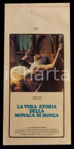 1980 LA VERA STORIA DELLA MONACA DI MONZA Zora KEROVA Manifesto EROTICO 32x70 cm