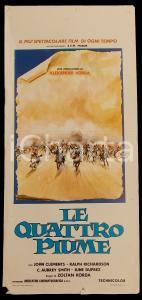 1975 LE QUATTRO PIUME John CLEMENTS Ralph RICHARDSON *Manifesto 32x70 cm