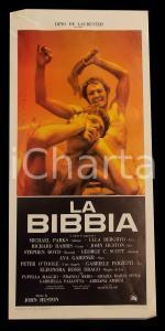 1966 LA BIBBIA Richard HARRIS Franco NERO John HUSTON *Manifesto 32x70 cm