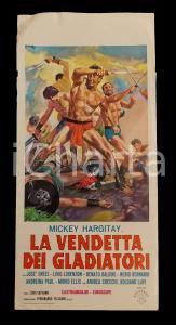 1964 LA VENDETTA DEI GLADIATORI Mickey HARGITAY José GRECI *Manifesto 32x70 cm