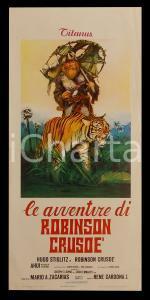 1970 LE AVVENTURE DI ROBINSON CRUSOE Hugo STIGLITZ *Manifesto 32x70 cm