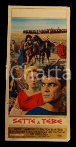 1964 SETTE A TEBE André LAWRENCE Lena VON MARTENS *Manifesto PEPLUM 32x70 cm
