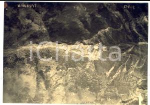 1918 WW1 SASSO ROSSO - VAL VECCHIA Veduta aerea FOTO 26^ Squadriglia Aeroplani