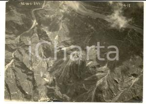 1918 WW1 VAL GARDENA / VAL BRENTA Veduta aerea *Foto 26^ Squadriglia Aeroplani
