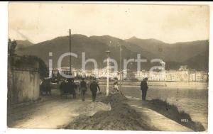 1915 WW1 ZONA DI GUERRA P. M. 8^ Divisione - Foto cartolina ISTRIA mare animata